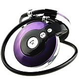 HY HUNTECH lnc Retractable Wireless Bluetooth V3.0 Headphone Headset Earhook Purple