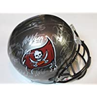 2013 Tampa Bay Buccaneers Team Signed Autographed Full Size Replica Helmet Doug Martin , Vincent Jackson Plus Many More Authentic Certified Coa