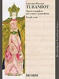 Puccini Giacomo Turandot: Vocal Score