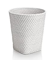 White Weave Waste Bin