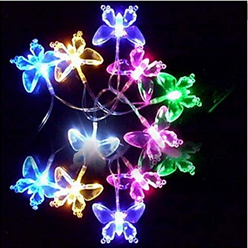 Generic 4M 20 Led Colorful Butterfly Shaped String Lamp Outdoor Festival Decoration Lights