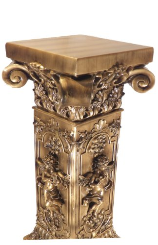Buy French Golden Floor Table Plant Stand Furniture Pedestal Post Column Interior Decor Carved