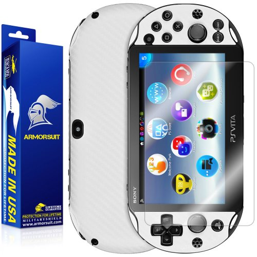 Why Choose ArmorSuit MilitaryShield - Playstation Vita Slim (2014) Screen Protector + White Carbon F...