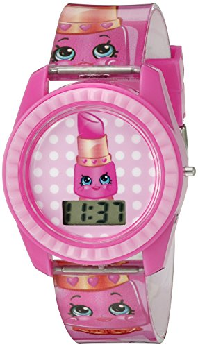 Shopkins Girl's Quartz Plastic Casual Watch, Color:Pink (Model: KIN4001)