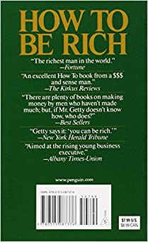 How to Be Rich: J. Paul Getty: 9780515087376: Amazon.com