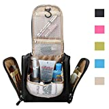 Electronics Power Cable Holder/Toiletry Bag/Makeup Organizer/Cosmetic Bag/Portable Travel Kit Organizer/Household Bathroom Pack/Storage Storage for Business Vacation (Medium Black)