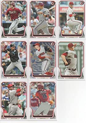 Arizona Diamondbacks 2014 Bowman MLB Baseball Series Complete Mint 8 Card Team Set with Paul Goldschmidt Mark Trumbo and Others