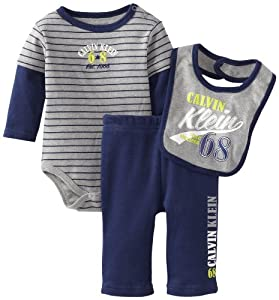 Calvin Klein Boys Bodysuit With Pants And Bib