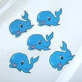 Bathtub Stickers Whales - Safety Decals Treads Non Slip Anti-skid Shower Applique