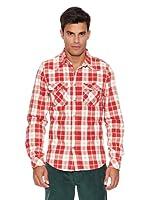 Pepe Jeans London Camisa Trickster (Rojo / Blanco)