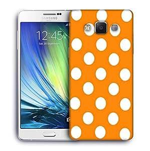 Snoogg Yellow Polka Dot Designer Protective Back Case Cover For Samsung Galaxy A7