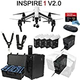DJI-Inspire-1-V20-Bundle-with-4-Batteries-Charging-Hub-Charge-all-batteries-at-the-same-time-Go-Professional-Case-64GB-Extreme-Pro-MicroSD-Card-and-more