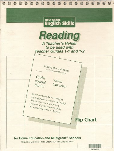 First Grade English Skills Teaching Visuals Flip Chart