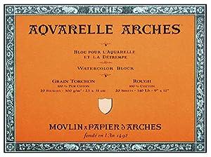 "Arches Watercolor Paper 140 lb. Rough Block 7x10"""