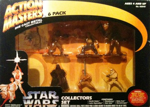 Star Wars Action Masters 6 Die Cast Metal Collectors Set