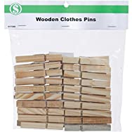 Clothes Pins - Smart Savers-20PC WOODEN CLOTHES PINS