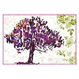 Leaf Designs Purple Tones Tree Table Mats - Set Of 6