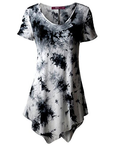 thanth-women-short-sleeve-scoop-neck-all-over-tie-dye-tunic-top-white-l