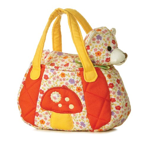"Aurora Plush 6"" FancyPal Vintage Floral Cat Pet Carrier"