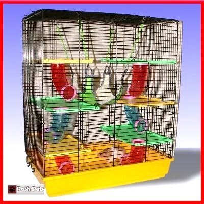 Bonzia Palace Large Hamster Cage Bonzai Palace With Luxury Hammock 51nQTjlWfxL