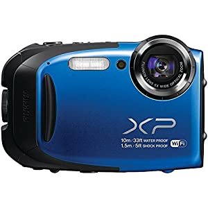 Fujifilm XP70 16MP Digital Camera with 2.7-Inch LCD (Blue) (Certified Refurbished)
