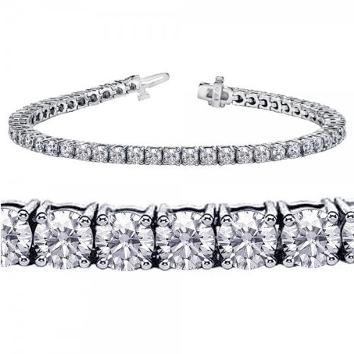 4.00 CT TW 4 Prong Round Diamond Tennis Bracelet