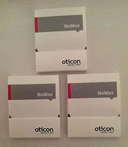 (3 Packs) Oticon No-Wax - Wax Guard, for Oticon