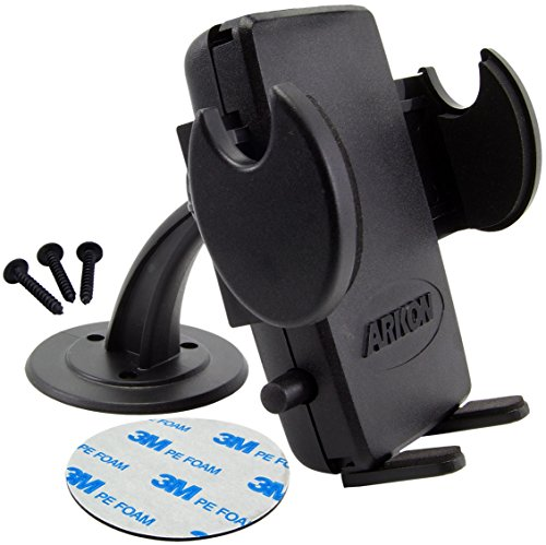 Arkon SM416 Adhesive Dashboard/Desktop/Console Mount and Mega Grip Holder for iPhone, HTC EVO 4G, HD2, Droid Incredible, Droid X, Galaxy S (Console Phone Holder compare prices)
