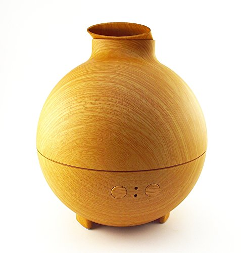 ForTech 600ML Pod Shaped Wood Humidifier Aromatherapy Essential Oils Diffuser 20006A