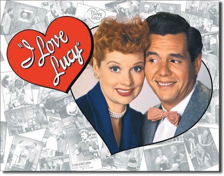 I Love Lucy Loving Couple Logo TV Retro Vintage Tin Sign