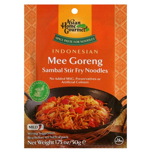 Asian Home Gourmet Mee Goreng Sambal Stir Fry Noodle Mix, 1.75-Ounce Pouch (Pack of 12) (Stir Fry Kit compare prices)