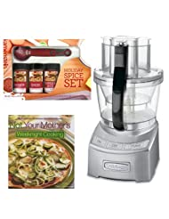 Cuisinart FP-12DC Elite Collection 12-cup Food Processor Die Cast + Kamenstein Mini Measuring Spoons Spice Set + Cook Book by Cuisinart