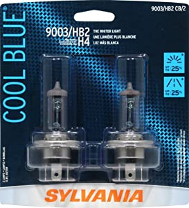 Sylvania 9003/HB2/H4 CB Cool Blue Halogen Headlight Bulb (Low/High Beam), (Pack of 2)