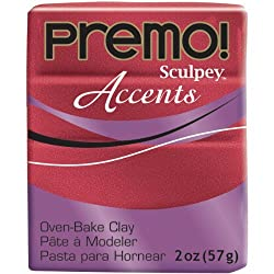 Sculpey Premo ACCENTS 2oz RED GLITTER 5051