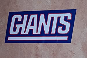 New York Giants FATHEAD Official TEAM SIGN LOGO NFL Vinyl Wall Graphic 19x8 by Fathead