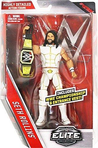wwe-elite-serie-45-figurine-daction-blanc-tenue-seth-rollins-w-wwe-ceinture-champion-accessoire