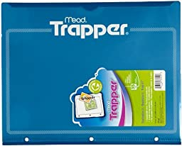 Trapper Plastic Folder with Customizable Cover, Blue (33220) by Mead
