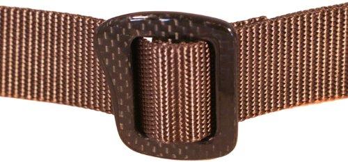 Bison Designs 30mm Carbonator Web Belt with 100-Percent Carbon Fiber Buckle (Chocolate Brown, 42-Inch Maximum Waist/Large)
