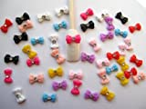 Nail Art 3d 45 Pieces Mix Bow/Rhinestone for Nails, Cellphones 1.2cm