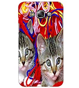 SAMSUNG GALAXY E7 KITTYS Back Cover by PRINTSWAG