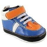 Luvable Amigos antideslizante Baby Boys Baloncesto Hi-Top Botines Zapatos de bebé azul azul Talla:12-18 meses