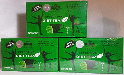 3 Boxes Royal King Extra Strength Diet Green Tea