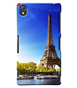 Blue Throat Effil Tower Printed Designer Back Cover/Case For Sony Xperia Z3