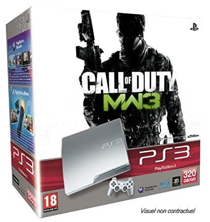 Console PS3 320 Go argent + Manette PS3 Dual Shock 3 - argent + Call of Duty Modern Warfare 3