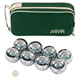 Jaques Polished Alloy 8 Boule Bocce Ball Set - Petanque