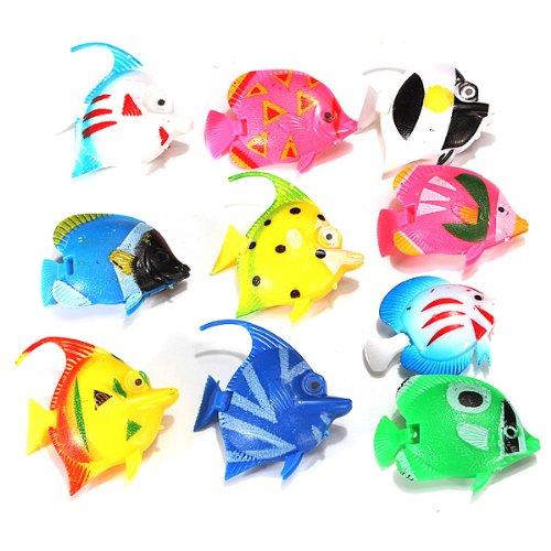 10X-Schwimmende-Knstlich-Deko-Fisch-Ornament-Dekoration-fr-Aquarium-Fish-Tank