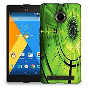 Snoogg Green Abstract Pattern Designer Protective Back Case Cover For MICROMAX YU YUPHORIA