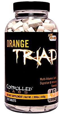 buy Controlled Labs Orange Triad: Multivitamin, Joint, Digestion, And Immune, 270-Count Bottle