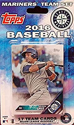 Seattle Mariners 2016 Topps Baseball Factory Sealed EXCLUSIVE Special Limited Edition 17 Card Complete Team Set with Felix Hernandez, Robinson Cano & More Stars & Rookies! Shipped in Bubble Mailer!