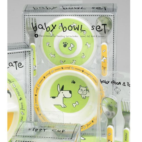 Furry Friends Dinnerware Collection - Covered Bowl Gift Set (Bowl 1.5 h x 8.5 dia; Fork & Spoon 5.5 x 1) - Buy Furry Friends Dinnerware Collection - Covered Bowl Gift Set (Bowl 1.5 h x 8.5 dia; Fork & Spoon 5.5 x 1) - Purchase Furry Friends Dinnerware Collection - Covered Bowl Gift Set (Bowl 1.5 h x 8.5 dia; Fork & Spoon 5.5 x 1) (Wrapables, Home & Garden, Categories, Kitchen & Dining, Tableware)